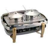 Luxury Soup Chafing Dish with Double Food Pans