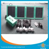 20W Portable Camping Light Home Use LED Solar Lighting System with 6 Lamps and Mobile Charger