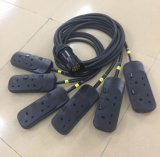 Power Cable Socapex Breakout to UK 13A Power Sockets
