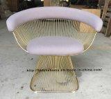 Leisure Metal Dining Restaurant Cushion Outdoor Steel Wire Chair