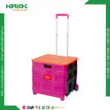 Plastic Foldable Shopping Trolley Cart Pack N Roll