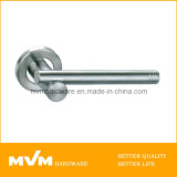 Stainless Steel Door Handle on Rose (S1128)