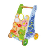 2014 Colorful Wooden Stroller Toy for Kids, Wooden Children Balance Baby Stroller, Wooden Toy Stroller for Baby Wholesale Wj278240