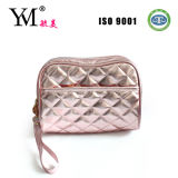 High Quality Pink Quilted Ladies Cosmetic Bag