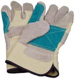Competitive Working Leather Gloves with CE Approval Sq003