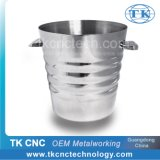 Stainless Steel Ice Bucket for Wine Tasting as Barware Use in Bar, Lounge, Pub by Stamping, Pressing, Deep Drawing