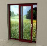 Wood Color Finishing Heat-Insulation Aluminum Sliding Door