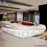 LED Lighting Transparent Reception Desk