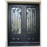 Made in China Square Top Wrought Iron Door (UID-D076)