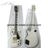 White Color Block Inlay Lp Electric Guitar