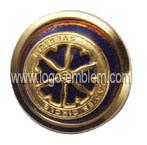 Gold Tone 3D Badge Pin