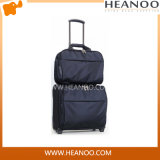 Wheleled Quilted Rolling Carry on Luggage Trolley Travel Bag