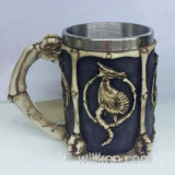 Skull Dragon Mug of Coffee Resin Stainless Steel Cup for Home Drinkware
