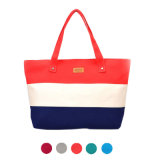 Women Ladies Stripes Canvas Shopping Bags Fashion Ladies Shoulder Messenger Bag Summer Beach Handbag Brand Totes 2018