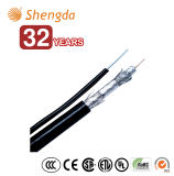 Cheaper Semi Finished Coaxial Cable RG6 Quad Shield with Messenger