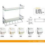 High Quality Bathroom Accessories Glass Double Shelf (C6707)