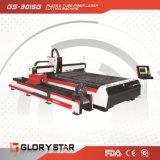 Fiber Laser Cutting Machine with Tube Cutting Device GS-3015g