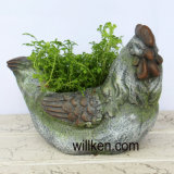 Granite Finish Country Animal Style Flower Pot