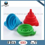 Popular Collapsible Silicone Bottle Funnel Silicone Wine Pourer Sk04
