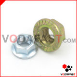 Hex Flange Nuts Serrated Zinc Plated