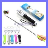 No Bluetooth Needed with Cable Wired Extendable Selfie Stick for iPhone 6 6 Plus Samsung S6 Mobile Phone