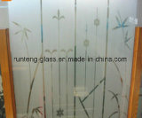 3mm 4mm Frosting/Frosted /Acid Etched Pattern Glass