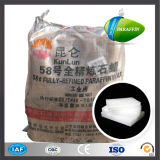 Made in China Kunlun Brand White Solid Paraffin Wax 58-60 Slab 50kg Woven Bag