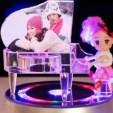 Pink Crystal Piano Music Box for Wedding Favor Gifts (KS25024)