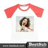 Bestsub Promotional Polyester Black Sublimation Printing T-Shirt (TSPO)