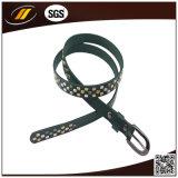 New Fashion Women Patent PU Belt with Rivet (HJ0007)