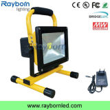 High Power IP65 20W COB LED Rechargeable Portable Flood Light