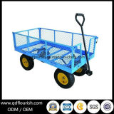 Metal Steel Mesh Tool Cart Tc1840 for Garden Trolley