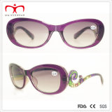 Fashion Style Ladies Sun Reader Glasses with Special Temple (WRP411412SR)