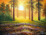 Handmade Sunset&Sunrise Landscape Painting for Wall Decoration (LH-342000)