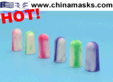 Anti-Noise Foam Disposable Safety PU Earplug with CE