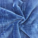100% Polyester Grid 8 Jacquard Flannel Fleece