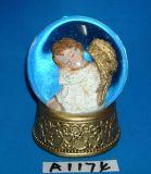 Christmas Decoration Gold Angel Water Globe