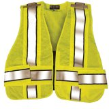 Safety Vest in 100%Polyester Knitting Fabric with High Luster Refplective Tape