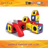 Indoor Kids′ Body Exercising Blocks Plastic Toys with Slide (PT-019)