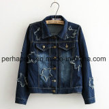 High Quality Denim Jacket Fashion Womens Denim Jeans Coat Winter