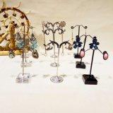 3PCS/Set Acrylic Metal Earrings Holder Rack