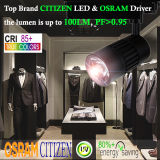 Clothes Shop 30W Citizen LED Tracklight with Osram Driver