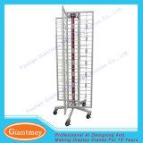 Cusomized Metal Wire Grid Mesh Spinner Floor Display Rack