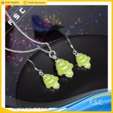 Wholesale Newest Design Cute Christmas Tree Jewelry Set for Girl