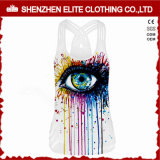 Wholesale Custom High Quality Cheap Activewear Tank Tops White (ELTCI-67)
