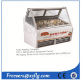 Horizontal Type Gelato Ice Cream Display Freezer