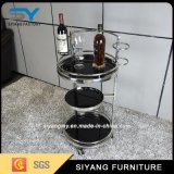 Stainless Steel Three-Layers Dining Wine Trolley Cart