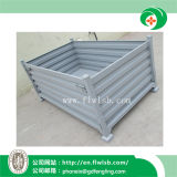 Collapsible Steel Turnover Container for Transportation by Forkfit