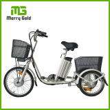Small 3 Wheel Cargo Electric Tricycle with Baskets for Adults