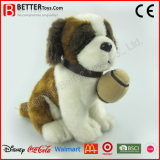 Realistic Stuffed Saint Bernard Plush Toy Soft Dog